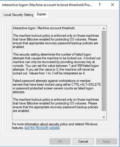 Windows group policy for BitLocker PIN | CoNetrix