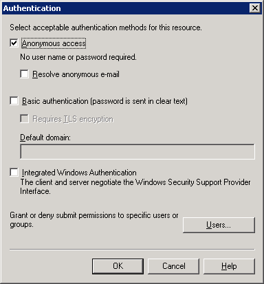Authentication in SMTP Service on Exchange Server | CoNetrix